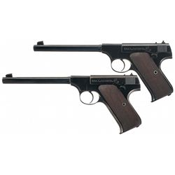 Two Colt Pre-Woodsman Semi-Automatic Pistols