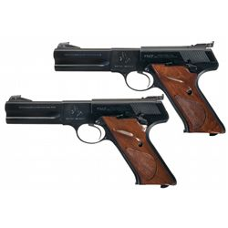 Two Colt Woodsman Match Targets