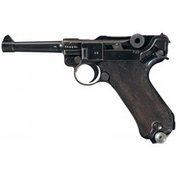 "WWII Nazi 1941 Dated Mauser Luger with ""byf"" Markings and ""ku"" Luftwaffe Proofs"
