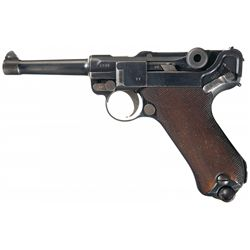 WWI German 1915 Dated DWM Model 1914 Military Luger Pistol