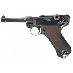 "WWII 1938 Dated ""S/42"" Code Nazi Mauser Luger Pistol"