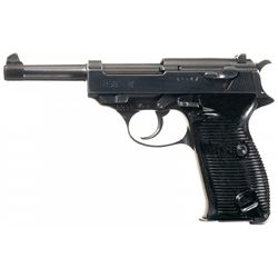 """Mauser """"byf/43"""" Code P-38 Semi-Automatic Pistol with 1943 Dated Holster and Extra Magazine"""