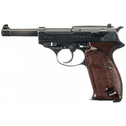 """Excellent Walther """"ac 43"""" Code P-38 Pistol with Holster and Extra Magazine"""