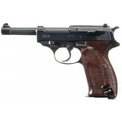 """Late-War Production Nazi """"ac 45"""" Code P-38 Pistol with Holster and Extra Magazine"""