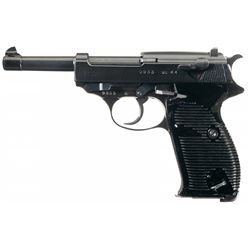 """WWII Walther """"ac 44"""" Code P-38 Semi-Automatic Pistol with Extra Magazine and Hardshell Holster"""