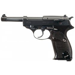 """Walther """"ac 44"""" Code P-38 Semi-Automatic Pistol with Holster and Extra Magazine"""