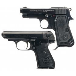 Collectors Lot of Two WWII European Semi-Automatic Pistols
