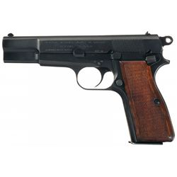 Post-War Fabrique Nationale High Power Semi-Automatic Police Pistol with Holster