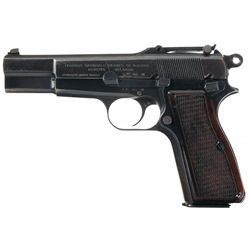 Pre-War Fabrique Nationale High Power Semi-Automatic Pistol with Holster and Extra Magazine