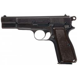 Nazi Occupation Fabrique Nationale High Power Pistol with Holster