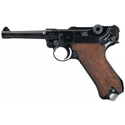 """WWII Nazi 1938 Dated """"S/42"""" Code Luger Pistol Rig"""