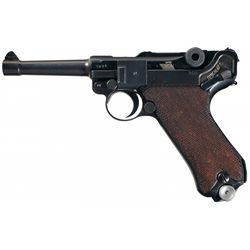 """WWII Nazi 1941 Dated, """"byf"""" Code Mauser Luger Rig"""