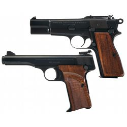 Two Belgian Browning Semi-Automatic Pistols