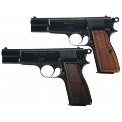 Two Belgian Browning High Power  T  Series Pistols