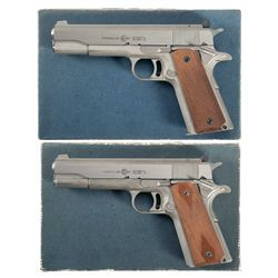 Two Consecutively Serial Numbered Boxed AMT Hardballer Semi-Automatic Pistols