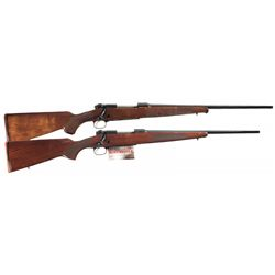 Two Winchester Model 70 Bolt Action Sporting Longarms