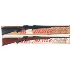 Two Boxed Winchester Model 70 Bolt Action Rifles