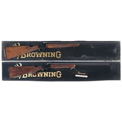 Two Boxed Browning Single Shot Rifles