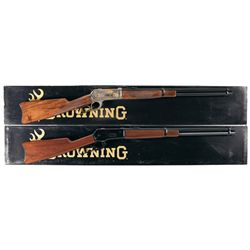 Two Boxed Browning Model 1886 Lever Action Carbines