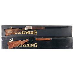 Two Boxed Browning Lever Action Rifles