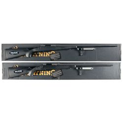 Two Boxed Browning A-Bolt II Bolt Action Rifles