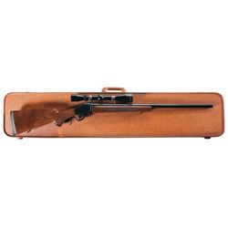 Scoped Browning Model 78 High Wall Single Shot Rifle with Case