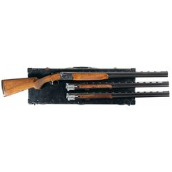 Cased Three Barrel Set Ithaca Model 600 Over/Under Shotgun