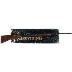 Engraved Browning Model 42 High Grade Slide Action Shotgun with Box
