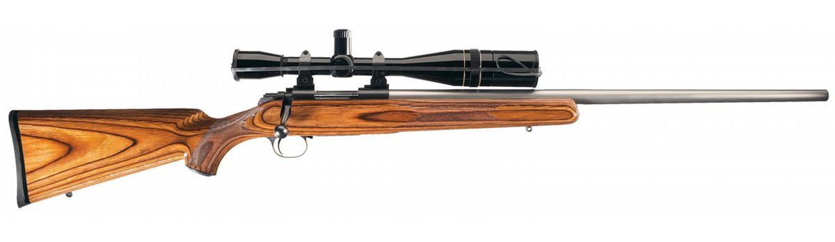 kimber model 84 bolt action rifle with scope