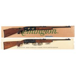 Collector's Lot of Two Boxed Remington Semi-Automatic Anniversary Commemorative Rifles