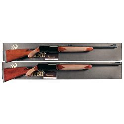 Two Boxed Browning Model BPR Slide Action Rifles