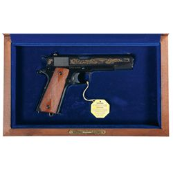 Cased Colt John M. Browning Commemorative Model 1911 Semi-Automatic Pistol with Box and Extra Slide