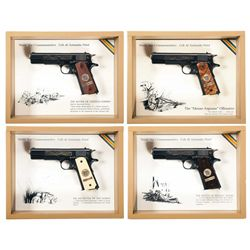 Set of Four Matching Serial Numbered Cased WWI Commemorative 1911 Semi-Automatic Pistols with Boxes