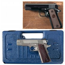 Two Colt Commander Semi-Automatic Pistols