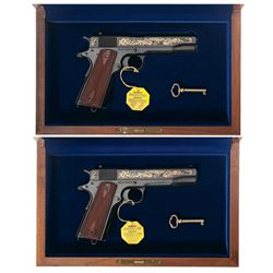 Two Colt Commemorative 1911 Semi-Automatic Pistols
