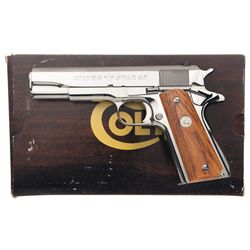 "Boxed Colt Government Model ""Silver Star 45"" Semi-Automatic Pistol with Case"