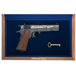 Colt John M. Browning 70 Year Commemorative 1911 Pistol with Box and Display Case