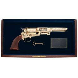 "Cased Engraved American Historical Foundation ""The Union Commemorative Colt Dragoon"" Percussion Revo"