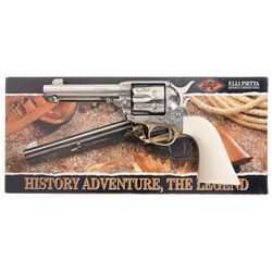 Custom Built Engraved F.LLI Pietta Model 1873 Great Western II Single Action Revolver with Box