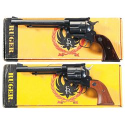 Two Boxed Ruger Single Action Revolvers