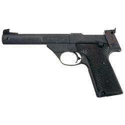 High Standard 10-X Semi-Automatic Target Pistol with Matching Box and Extra Magazine