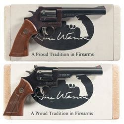 Collector's Lot of Two Boxed Dan Wesson Double Action Revolvers