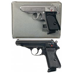 Two Boxed Walther Semi-Automatic Pistols