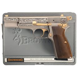 Engraved Browning Hi-Power America's Legacy of Liberty Commemorative with Plastic Case, Display Case