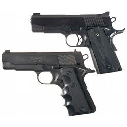 Two Compact 1911 Semi-Automatic Pistols