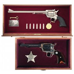 Collector Set of Two Cased Colt Commemorative Revolvers