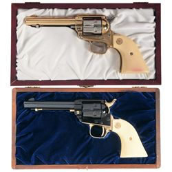 Two Cased Colt Frontier Scout Commemorative Revolvers
