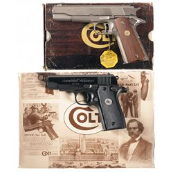 Two Boxed Colt Semi-Automatic Pistols