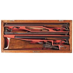 Custom Cased Three Barrel Set Maynard Patent Model 1882 Single Shot Rifle/Shotgun