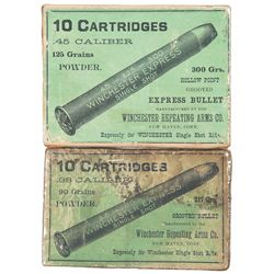 Two Boxes of Winchester Single Shot Rifle Express Cartridges